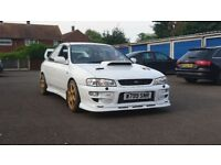 2000 SUBARU IMPREZA GC8 TURBO WRX STI MODIFIED FACELIFT NOT EVO SCOOBY JAP 4WD AWD PRODRIVE P1 PPP