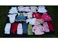 Baby girl 3-6 mths bundle of tops, dresses, trousers, jeans, tights leggings jumpers shorts