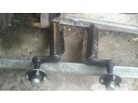 Cracking pair of unbraked 750 kg ifor williams trailer axles no vat