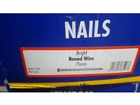 10kg Bright round wire nails 75mm