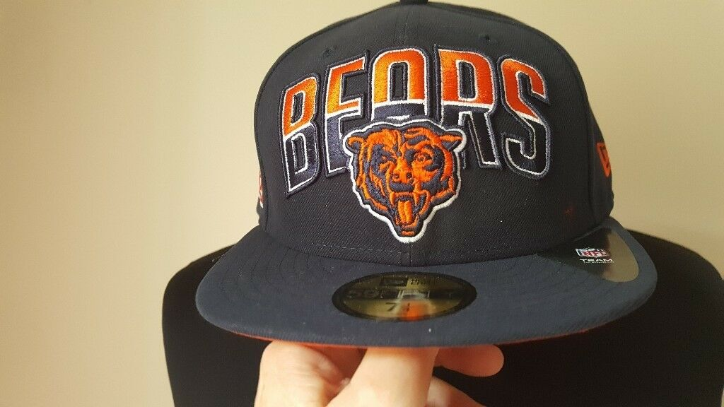 49cc26cd3644d ... best new american football chicago bears fitted cap size 7 1 4 nfl  bargain reduced to