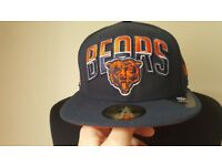 NEW American Football Chicago Bears Fitted Cap Size 7 1/4 NFL Bargain!