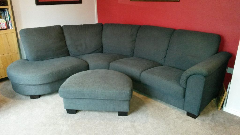 ikea tidafors 39 l 39 shaped sofa and footstool in nantwich. Black Bedroom Furniture Sets. Home Design Ideas
