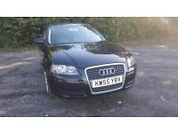 2005 AUDI A3 1.6 BLACK LEATHER SEATS MOT 1 OWNER FROM NEW