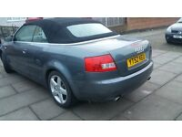 FANTASTIC AUDI CONVERTABLE A4 SPORT 2.4 LITRE MANUAL,LOW MILES FULL SERVICE,EXCELLENT RUNNER,FAST!!!