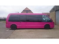 Pink Limo Party Bus