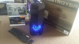 i7 Quad Core 3.4GHz 4K Ultra HD Gaming PC, 8GB DDR3 RAM, Geforce GTX 1050 TI 4GB GDDR5, 600 watt PSU