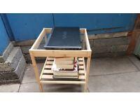 Bedsite Table - Glasstop