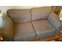 3 and 2 seater DFS fabric sofa
