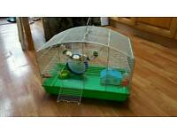 Large hamster cage with everything. Excellent condition
