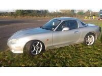 Mazda MX5 mk 2.5 1800 cc vvt six speed heated leather seats lsd uprated road springs