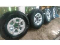 5 x Mitsubishi 5 stud L200 Pajero Alloy Wheels and Tyres