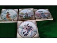 Set of 8 Japanese porcelain collectors plates