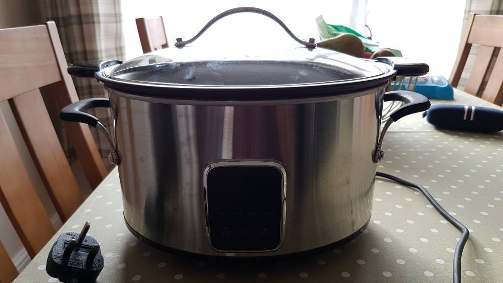 Slow cooker 6.5L stainless Steel