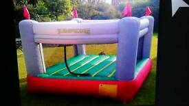 Jumpking bouncy castle like new been used once size 8 feet long by 8 feet wide
