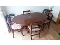 Extendable Dining Table and 4 Newly Covered Chairs
