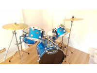 Pacific 5 Piece Drum kit Metallic Blue - Hardly Used