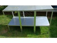 3 Aluminium 2 Tier Staging/tables for greenhouse.