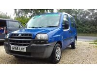 2005 Fiat Doblo Wheelchair Access Vehicle. Spares or Repair. with Electric Wheelchair.
