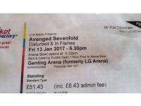 Avenged Sevenfold Ticket -Birmingham
