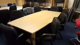 BRAND NEW boardroom tables available in walnut and beech