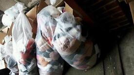 Bags of fabric samples