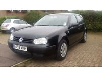 VW Golf, 1 Years MOT with NO Advisories, FSH, new tyres and brakes