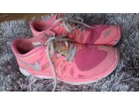 Pink nike ladies trainers