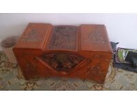 Decorative Carved Chinese Blanket Box