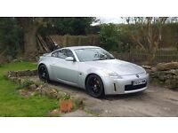 Nissan 350z 2004 metallic silver with black Rays alloys 73500mls