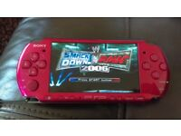 SLIM RED PSP WITH Smackdown vs Raw game