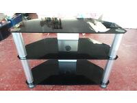 BLACK & SILVER TV/LCD/AV STAND, L=700MM, D=350MM, H=500MM