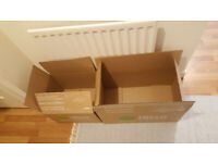 2 free cardboard/moving boxes