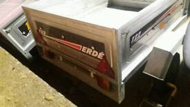 Erde 122 trailer with new cover