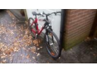 """Bike, mens, 18"""" frame, tyres and brakes ok, in good condition, kept in shed"""