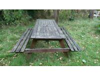 Picnic Table and Bench. Portable and great for family events. Highly functional.