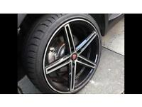 "Alloy wheels and tyres 19"" BMW vw t5 vivaro"