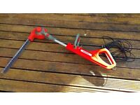 Telescopic Hedge Trimmer with adjustable trimmer angle for hard to reach places