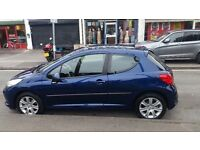 Peugeot 207/2007 in good condition,service history MOT till march 2017,low mileage,alloy wheels.