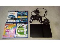 PS2 Console, controller and 4 games