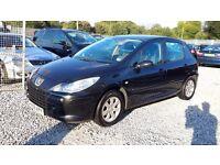 Peugeot 307 1587cc Petrol Hatchback, Black, Manual, 2006 (06) Full Mot