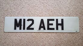 Personalised Number Plate - M12 AEH