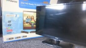 "POLAROID 23"" TV/DVD, FREEVIEW £40"
