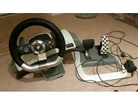 Xbox 360 Racing Steering Wheel