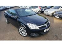 Vauxhall Astra 1.8 i Exclusiv Black Twin Top 2dr, CONVERTIBLE, FSH, HPI CLEAR,LONG MOT,DRIVES SMOOTH