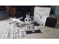 DJI Phantom 3 Professional with 4k camera + Accessories, Spares & Bag