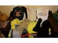 black bag of teenage girls clothes