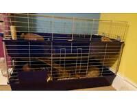2 Floor Guinea Pig, Chinchilla, Rat Cage
