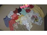 Bundle of clothes and bags