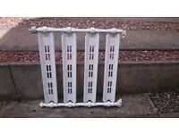 Baby Stair Guard - white, adjustable